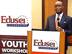 Kwame Bawuah-Edusei at Edusei Foundation Toronto workshop