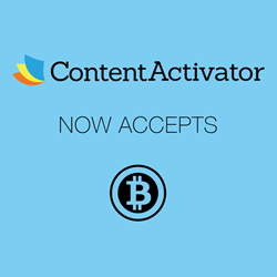 ContentActivator accepts bitcoin cryptocurrency