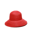 Chloe Red cloche straw hat