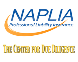 North American Professional Liability Insurance Agency (NAPLIA) and Center for Due Diligence Partner for the CFDD '14 Advisor Conference to provide exclusive resources, customized policies, expanded coverage and professional liability insurance discounts.