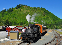 Steam Engine at Mt. Rainier Scenic Railroad and Museum