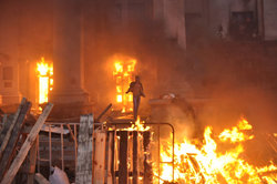 Fire inside the Trade Union's House that killed 48 people in Odessa on May 2, 2014