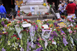 Flowers to commemorate the victims of Odessa tragedy