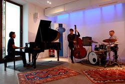 Azerbaijani pianist Isfar Sarabski with bass and drums
