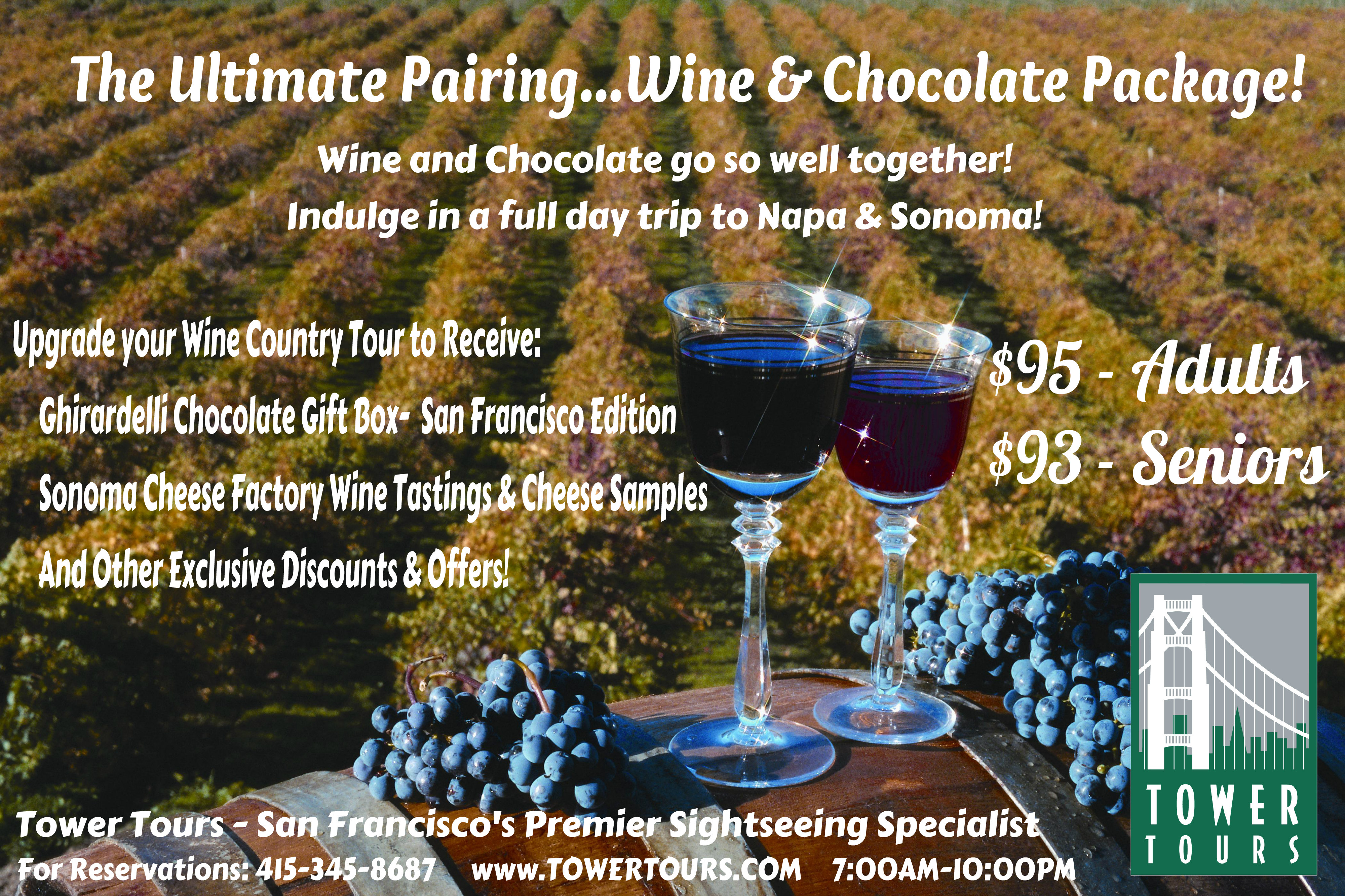 Wine Amp Chocolate Upgrade Now Available For The Napa