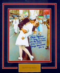 memorabilia, memorabilia magic, autographs, baseballs, footballs, iconic kiss, kissing sailor, George Mendonsa