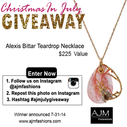 AJM Fashions Christmas in July Summer Sale Alexis Bittar Giveaway
