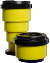 Yellow Collapse-A-Cup Travel Mug