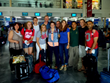 Service learning trip leaders and Ohio State students pose for a group shot