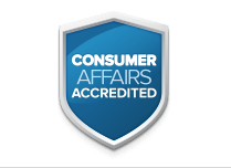 Picture of Logo on Easy Rest Adjustable Beds Consumeraffairs.com signaling that Easy Rest is a Consumer Affairs Accredited Company.