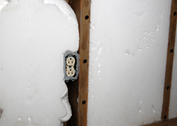 Injected as liquid, USA Premium  Foam conforms to the contours of any impediments in the wall cavity.