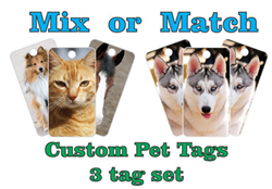 """Noise-free"" pet id tags"