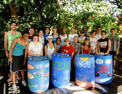 Students volunteer in Bahia Ballena, Costa Rica