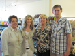 Pictured: Flo Sonneveld, Diana Sourek, Barbara Griffin and Jason Hartrampf.