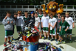 Maine Camp Experience campers participate in Maxcure Foundation's Dunk Your Kicks