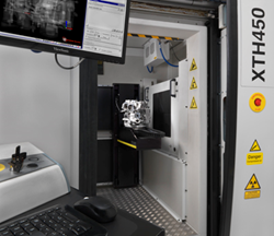 Industrial CT scanner machine, with engine component