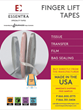 tapes, finger lift tapes, easy removal tape, transfer tape, film tape, tissue tape, bag sealing tape, double sided tape