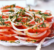 Walla Walla Sweet Onion and Tomato Salad with Mint and Chives