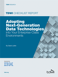image of the 2014 TDWI Checklist Report on Next-Generation Data Technologies