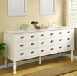 "Pearl White Harvest 70"" Double Vanity 6070D11-WW From Direct Vanity"