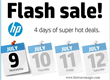 HP Flash Sales Next Four Days Only