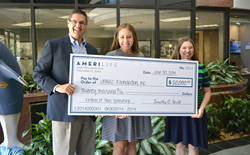AmeriLife Presents Sponsorship Check to UPARC Foundation for 2014 Festival of Trees Event
