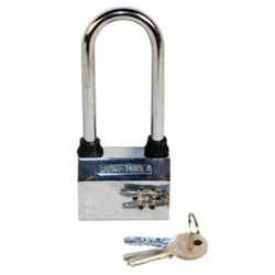Safety Technology, the country's leading drop ship wholesaler of self defense products, has launched a new large alarmed padlock with built-in motion sensor.