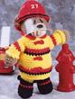 Crochet Fireman Bear