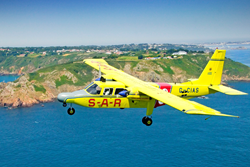 CIAS PBN-2B Islander 'Lion's Pride' over South coast of Guernsey