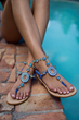 Capri Girl Debuts Resort 2014 Jeweled Sandals Collection Bringing...