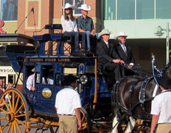 Prince William and Kate ride tallyho aboard the Hansen-built Express Ranch Stagecoach