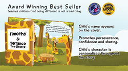 Personalized Children's Book Terrance the Giraffe by KD Novelties