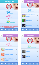 Baby's Brilliant app - movies, songs, nightlights for babies and toddlers