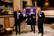 At the Tucker Design Awards (l. to r.): John Grubb, pres, BSI; Duffe Elkins, COO, Indiana Limestone; Peter Morris Dixon, director of external communications, RAMSA; Tom Quigley, CEO, Indiana Limestone