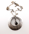 Bonnie Bennett (Kat Graham) Wears Woobie Beans' Sterling Silver and Smoky Quartz Washer Necklace on The Vampire Diaries