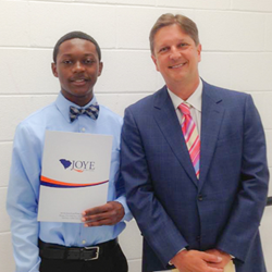 Joye Law Firm's Atty. Ken Harrell Awards a $2,000 Scholarships to Goose Creek Senior Cameron Carroll