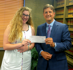 Joye Law Firm Scholarship Recipient Lauren Blew and Atty. Ken Harrell