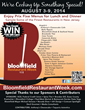 Bloomfield's Annual Restaurant Week is Set for August 3-9, 2014;  Over...