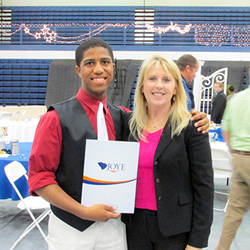 Joye Law Firm Scholarship Recipient Niniverh Williams and Joye's Deana Nash