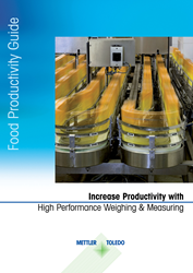 A new Food Productivity Guide for all food and beverage manufacturers from METTLER TOLEDO  was developed as a food process and equipment selection reference tool for all food and beverage manufacturers.