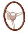 GT Performance Retro Cobra Wood Steering Wheel