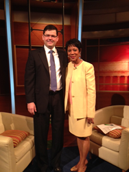 Dr. Eric Levens with WUSA's Andrea Roane