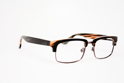 PAE's new Buffalo Horn style, the David, in a mixed onyx pattern.