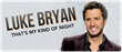 Luke Bryan Tickets Sleep Train Amphitheatre in Wheatland, CA...