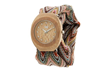 Belle Beige with Adjustable Cloth Bands, wooden watches, wooden watch, wood watch, wewood
