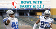 Barry Church and JJ Wilcox, Dallas Cowboy Safeties, Bowl With Fans for...