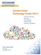 DATAMARK Paper Highlights Tech Trends Impacting the Call/Contact...