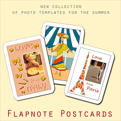 Photo templates for your summer postcards