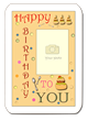 """Happy Birthday to You"" photo template by Flapnote Postcards"