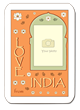 """Love from India"" photo template by Flapnote Postcards"